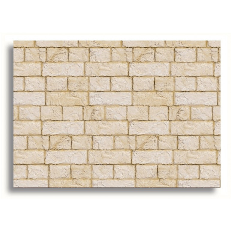 Miniature Doll House Decor Sandstone Wall