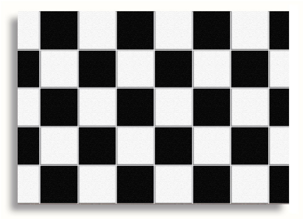 Miniature Doll House Decor Black White Sticker Floor Tiles