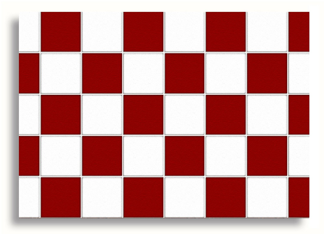 ###*****Red Squared Checked Dolls House Wallpaper.*****###
