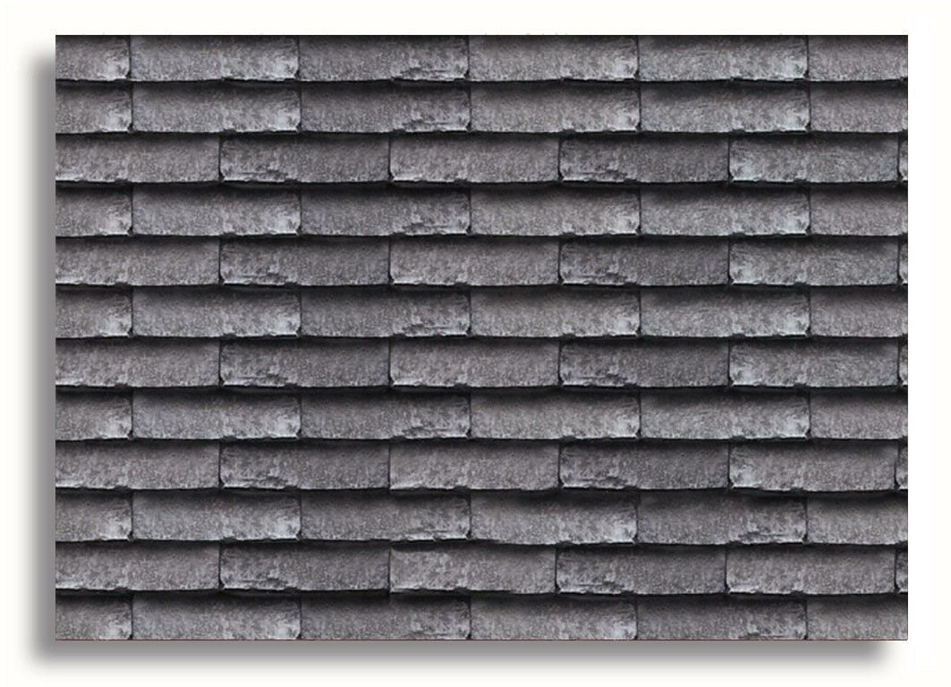 Miniature Doll House Decor Roof Tiles Grey